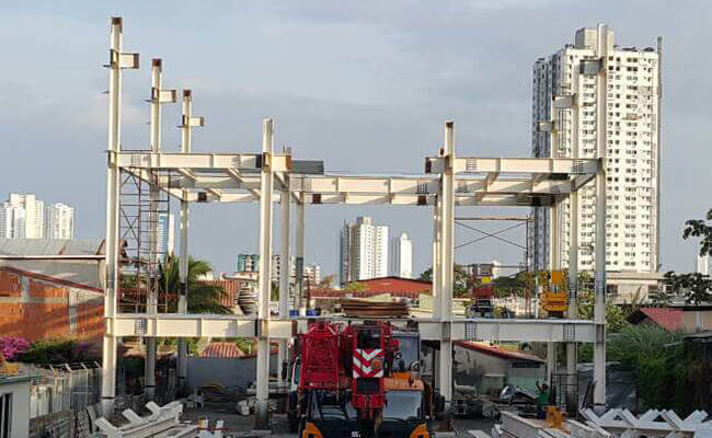 High rise steel frame building for Panama